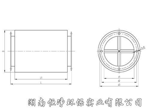 Z型轴流风机消声器