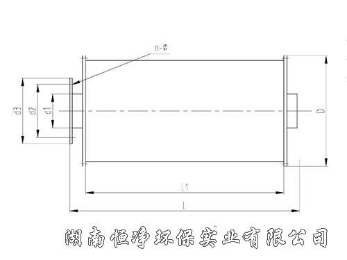 CP型柴油机排气消声器